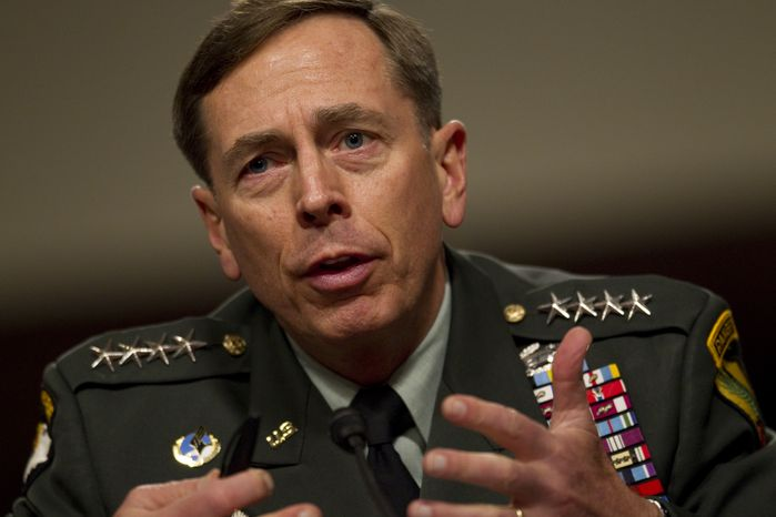 In this June 15, 2010 file photo, U.S. Central Commander Gen. David Petraeus testifies on Capitol Hill in Washington, before the Senate Armed Services Committee. The Senate unanimously confirmed Gen. Petraeus to succeed Gen. Stanley McChryst