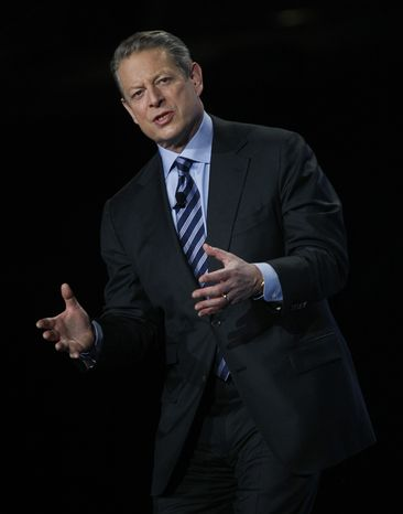 In this Nov. 11, 2009, file photo, former Vice President Al Gore speaks during the Greenbuild International Conference and Expo in Phoenix. Oregon authorities are reopening an investigation into a massage therapist's allegations that Mr. Gore groped her at a hotel four years ago. (AP Photo/Rick Scuteri, File)