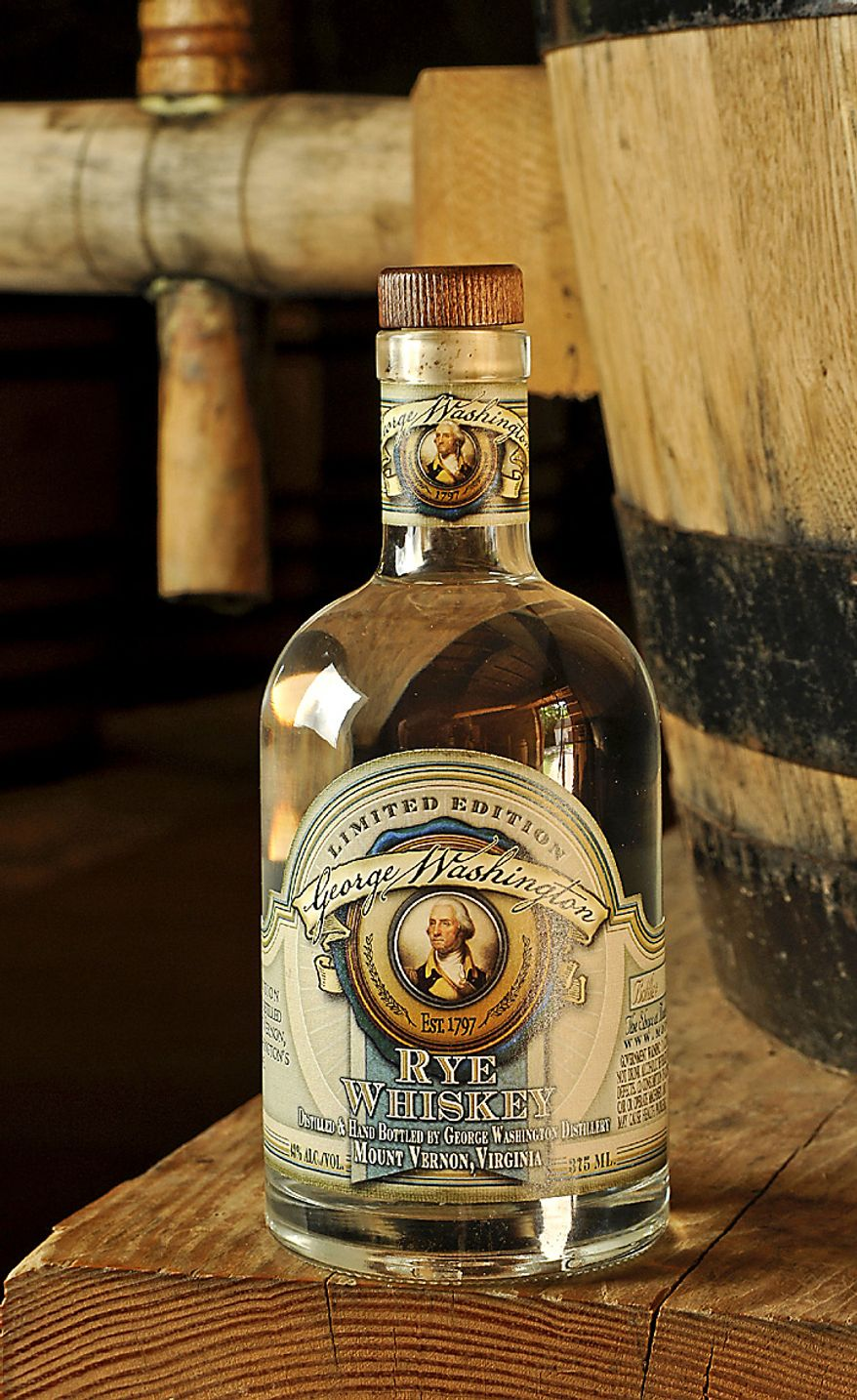 "Profits from sales of an ""extremely limited edition"" George Washington rye whiskey will benefit Mount Vernon's education programs. Photo by Russ Flint/Special to The Washington Times"