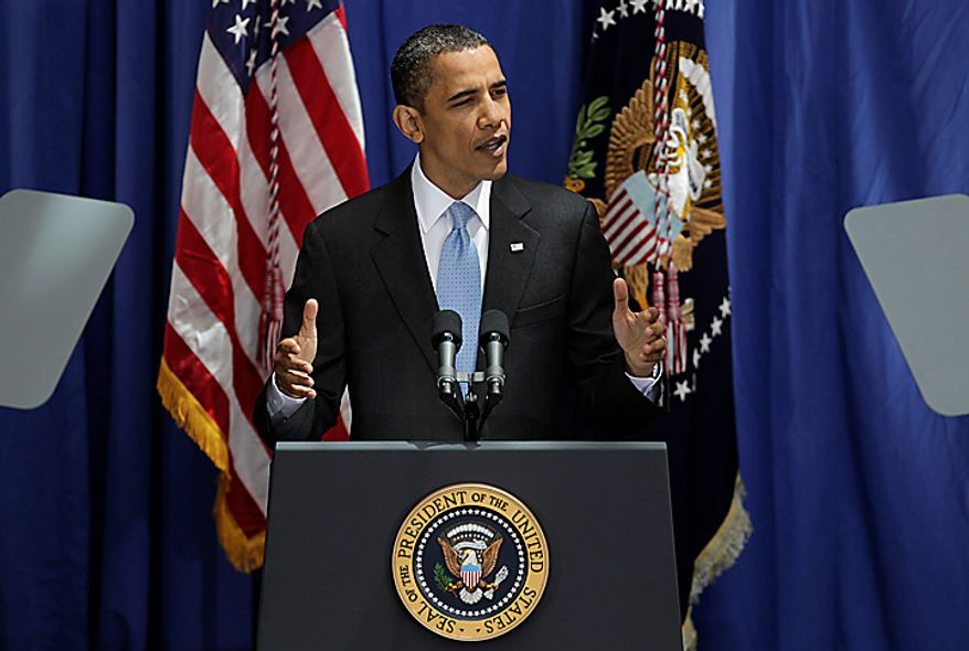 President Barack Obama outlines the need for immigration policy overhaul during a speech at the American University School of International Service in Washington, Thursday, July 1, 2010. (AP Photo/J. Scott Applewhite)