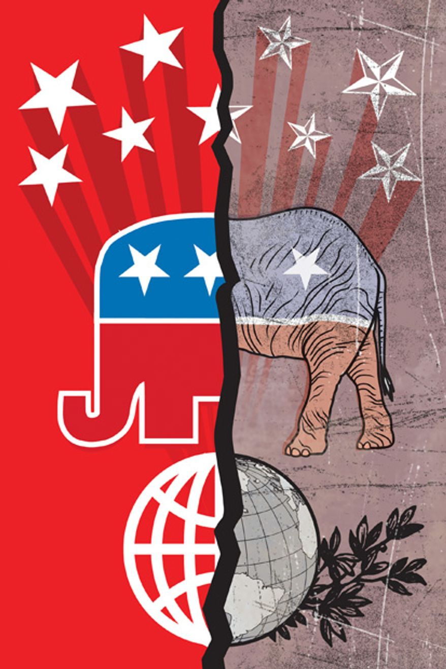 Illustration: New and old GOP by Linas Garsys for The Washington Times