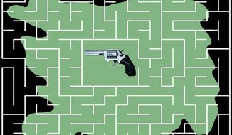 Illustration: Gun maze