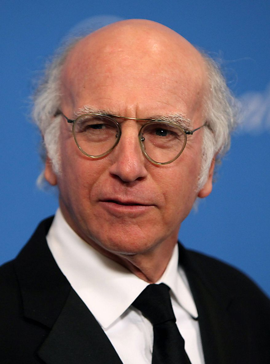 """In this Dec. 10, 2009, file photo, Larry David arrives at the UNICEF Ball honoring producer Jerry Weintraub in Beverly Hills, Calif. David was nominated for an Emmy for best actor in a comedy series on Thursday, July 8, 2010, for his role in """"Curb Your Enthusiasm.""""  The 62nd Primetime Emmy Awards will be held on Sunday, Aug. 29, in Los Angeles. (AP Photo/Matt Sayles, file)"""
