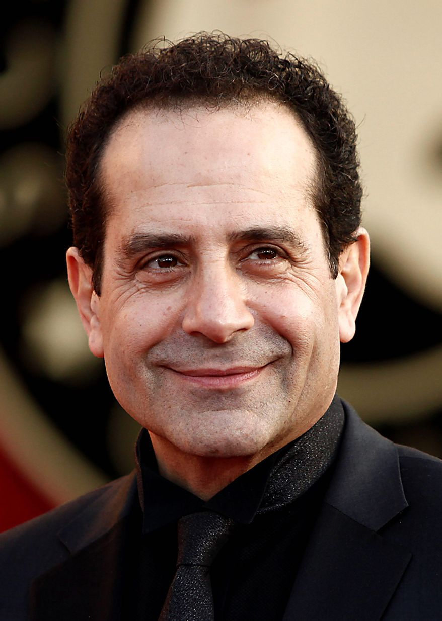 "In this Jan. 23, 2010, file photo, actor Tony Shalhoub arrives at the 16th Annual Screen Actors Guild Awards in Los Angeles. Shalhoub was nominated for an Emmy for best actor in a comedy series on Thursday, July 8, 2010, for his role in ""Monk.""  The 62nd Primetime Emmy Awards will be held on Sunday, Aug. 29, in Los Angeles. (AP Photo/Matt Sayles, file)"