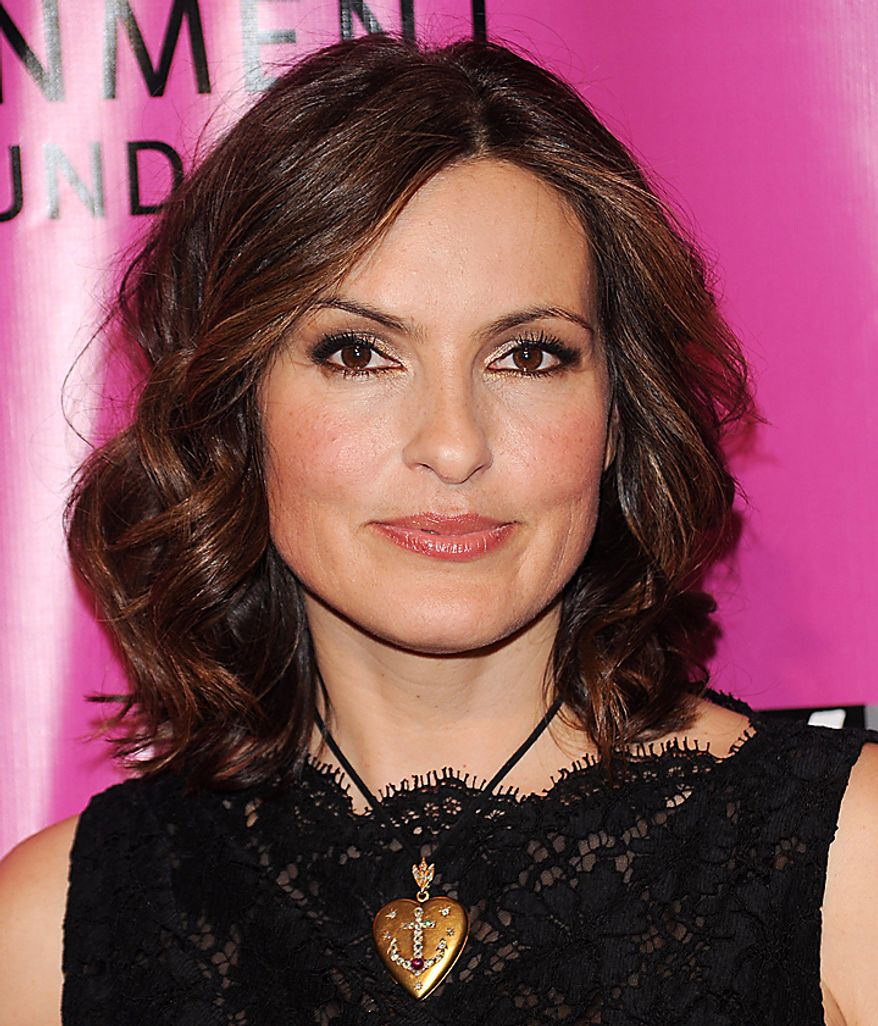 "In this May 5, 2010, file photo, actress Mariska Hargitay attends the Joyful Heart Foundation Gala recognizing the 15th Anniversary of the Violence Against Women Act in New York. Hargitay was nominated for an Emmy on Thursday, July 8, 2010, for best actress in a drama series for her role in ""Law & Order: Special Victims Unit."" The 62nd Primetime Emmy Awards will be held on Sunday, Aug. 29, in Los Angeles. (AP Photo/Evan Agostini, file)"