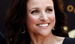 """In this May 4, 2010, file photo, actress Julia Louis-Dreyfus poses after the dedication ceremony for her Star on the Hollywood Walk of Fame in Los Angeles. Louis-Dreyfus was nominated for an Emmy, Thursday, July 8, 2010, for best actress in a comedy series for her role in """"The New Adventures of Old Christine."""" The 62nd Primetime Emmy Awards will be held on Sunday, Aug. 29.  (AP Photo/Matt Sayles)"""