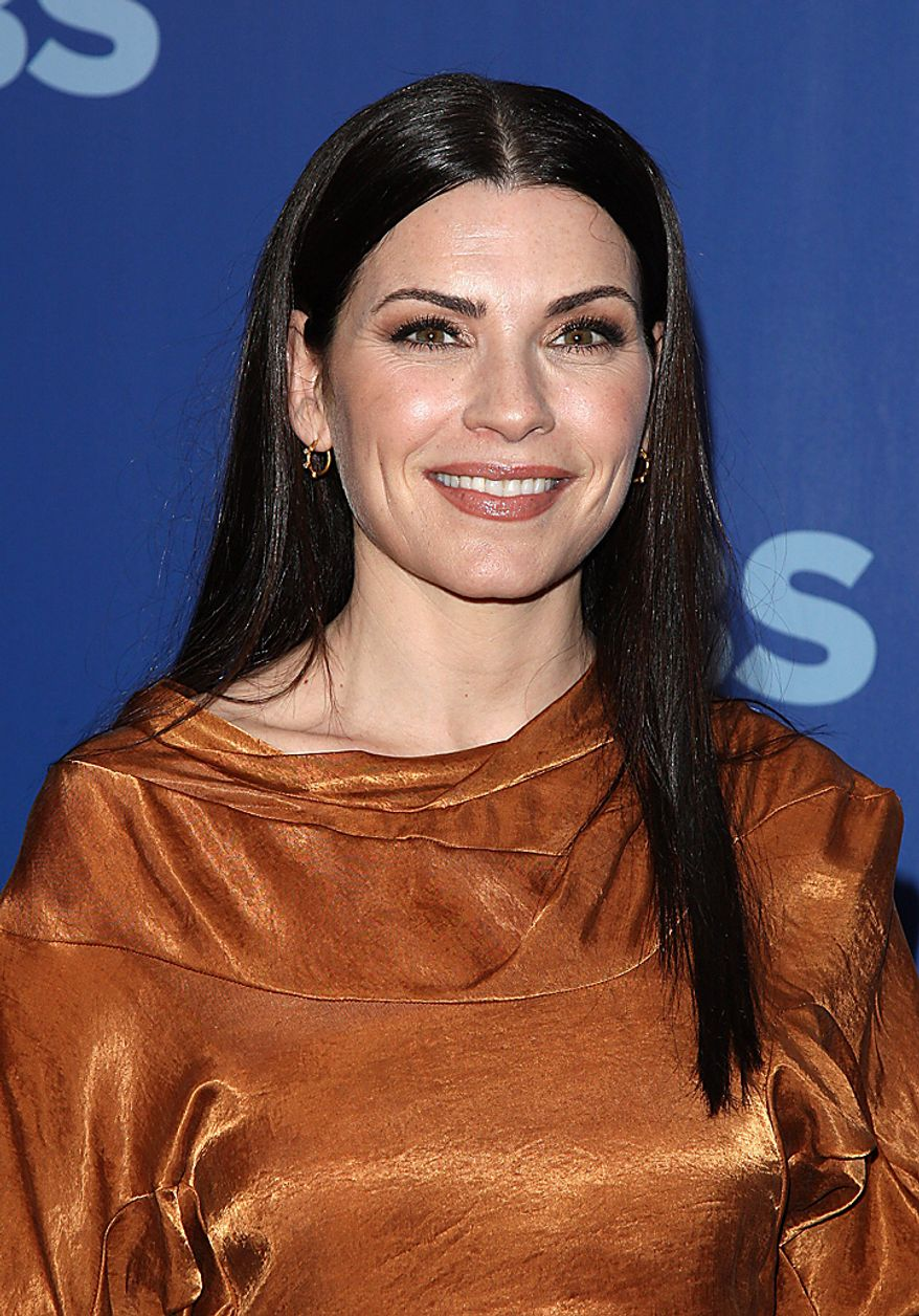 "In this May 19, 2010, file photo, actress Julianna Margulies attends the CBS Upfront presentation in New York.  Margulies was nominated for an Emmy award on Thursday, July 7, 2010, for best actress in a drama series for her role in ""The Good Wife.""  The 62nd Primetime Emmy Awards will be held on Sunday, Aug. 29.  (AP Photo/Peter Kramer, file)"