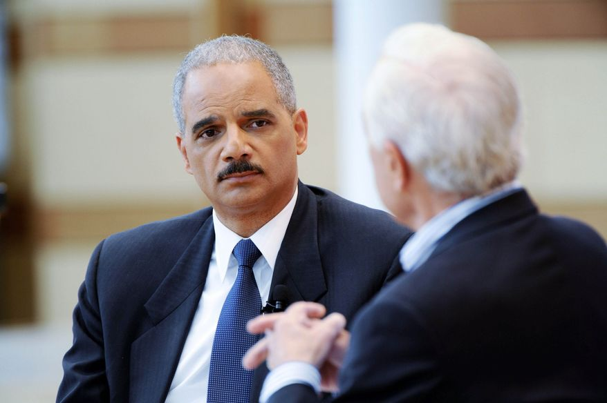 Attorney General Eric H. Holder Jr. says he doesn't know whether a terrorist can face the death penalty if he or she were to plead guilty to a military commission. (CBS via Associated Press)