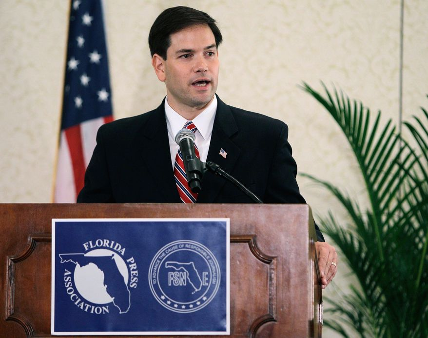 ASSOCIATED PRESS Marco Rubio, a Republican hopeful for Florida's U.S. Senate seat, has had impressive success, partly because of his grass-roots fundraising prowess. His campaign reports it now has more than 75,000 donors who have given less than $86 each.