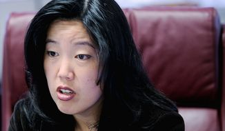 ** FILE ** Former D.C. Schools Chancellor Michelle Rhee (The Washington Times)