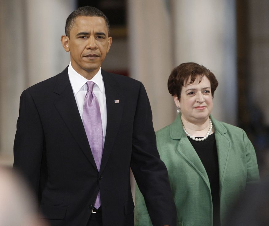 In this May 10, 2010, file photo, President Obama walks with his Supreme Court Justice nominee Elena Kagan, into the East Room of the White House in Washington. The Senate Judiciary Committee is expected to delay her confirmation vote by a week. (AP Photo/Pablo Martinez Monsivais, File)