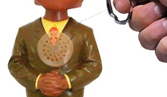 Illustration: NAACP doll by Greg Groesch for The Washington Times