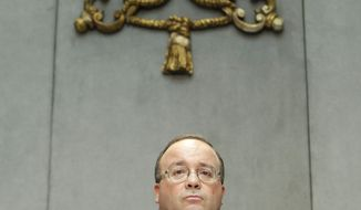 Monsignor Charles Scicluna, the Vatican's sex crimes prosecutor, talks to the media during a briefing to present a new set of norms that the Vatican issued to respond to the worldwide clerical abuse scandal, cracking down on priests who rape and molest minors and the mentally disabled, at the Vatican, Thursday, July 15, 2010. (AP Photo/Andrew Medichini)