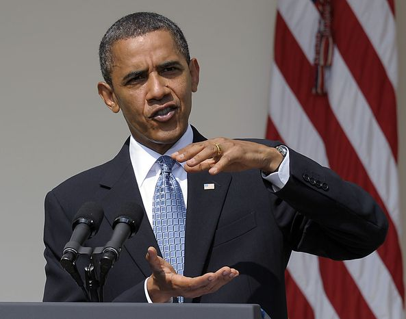 President Barack Obama makes a statement on the capping of the BP well in the Gulf, Friday, July 16, 2010, in the Rose Garden at the White House in Washington,  (AP Photo/Susan Walsh)