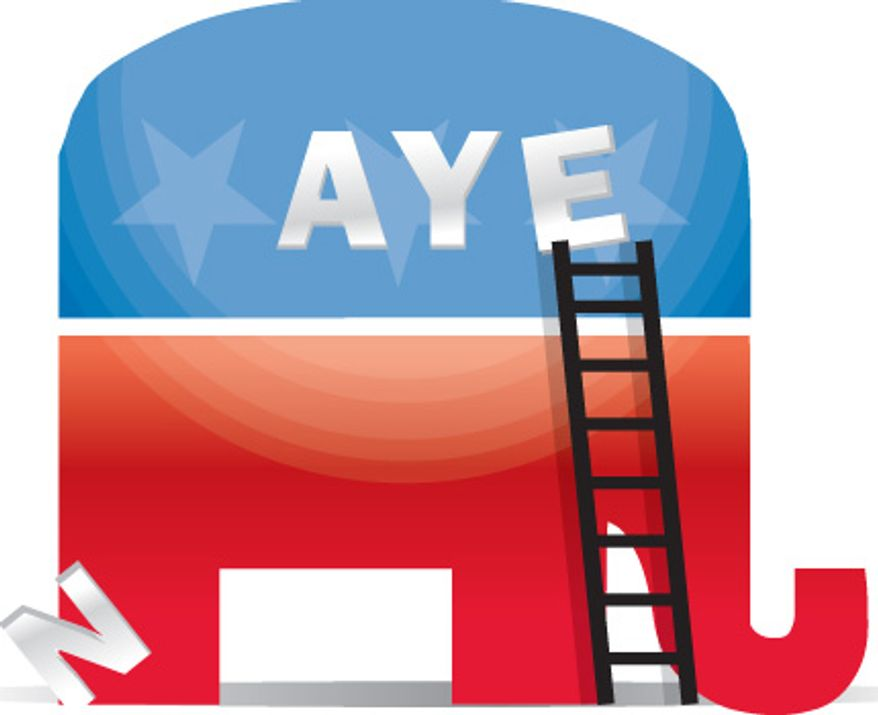 Illustration: GOP Aye by Linas Garsys for The Washington Times