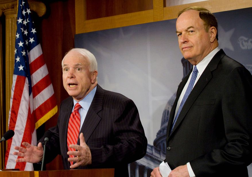 """""""I always believed in all the treaties that I've been involved in, in the past 28 years, General, that cheating does matter and it does have an effect. And to say that it has little if any effect, then we've been wasting a lot of time and money on negotiations,"""" Sen. John McCain said. (Associated Press)"""