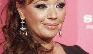 FILE - In this April 22, 2010 file photo, actress Leah Remini arrives at the Us Weekly Hot Hollywood Style Celebration in Los Angeles. (AP Photo/Matt Sayles, file)