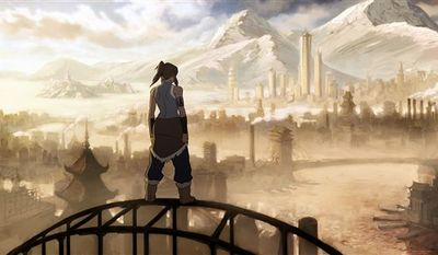 """In this publicity image released by Nickelodeon, a scene is shown from the animated Avatar Mini series, """"Legend of Korra."""" (AP Photo/Nickelodeon)"""