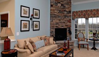 Buyers can customize their homes with a fireplace with a marble surround or a floor-to-ceiling stone surround.