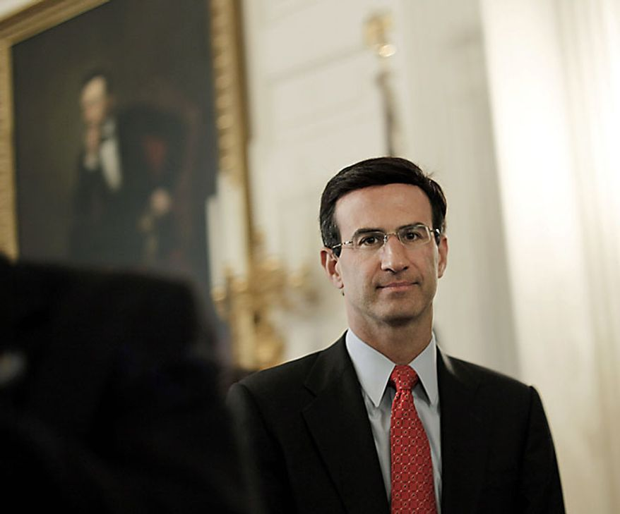 Outgoing director of the Office of Management and Budget, Peter Orszag after President Obama signed the Improper Payments Elimination and Recovery Act in a ceremony at the White House in Washington, Thursday, July 22, 2010. (AP Photo/Pablo Martinez Monsivais)