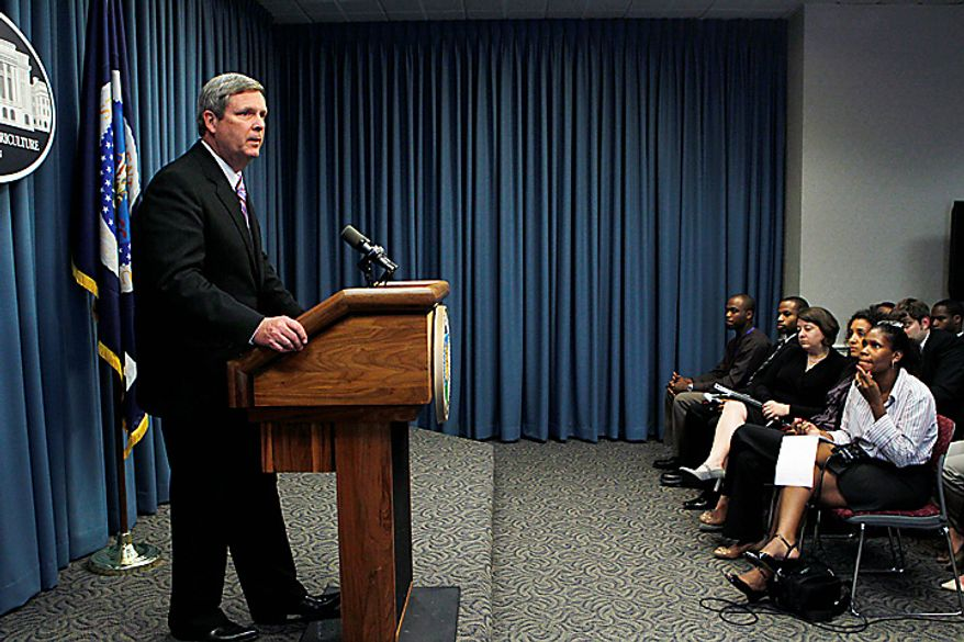 Agriculture Secretary Tom Vilsack tells reporters he acted in haste in firing Shirley Sherrod, a black U.S. Agriculture Department official, after it appeared she had made racist remarks in unfair and heavily edited video posted on a conservative website, during a news conference at the Department of Agriculture in Washington, Wednesday, July 21, 2010. (AP Photo/J. Scott Applewhite)