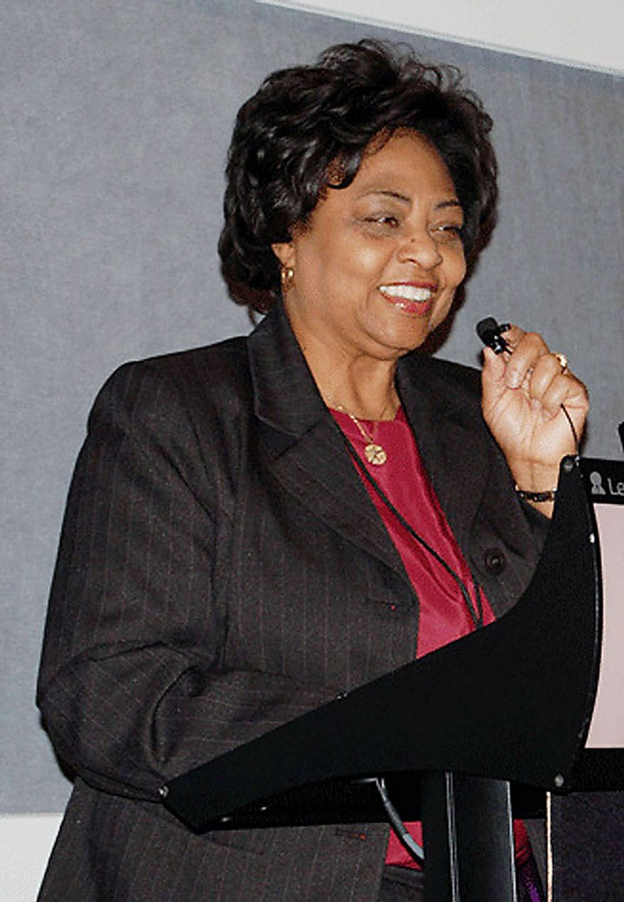 An undated photo provided by the United States Department of Agriculture shows USDA official Shirley Sherrod. Mrs. Sherrod is at the center of a racially tinged firestorm involving the Obama administration and the NAACP. Mrs. Sherrod was ousted Tuesday by Agriculture Secretary Tom Vilsack over her comments that she didn't give a white farmer as much help as she could have 24 years ago. (AP Photo/United States Department of Agriculture)