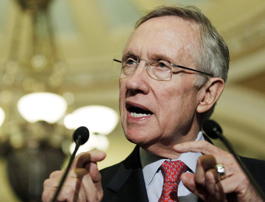 Senate Majority Leader Harry Reid said he supports in principle the House Democrats' wish list, but stripped much of it from the war spending bill. (Associated Press)