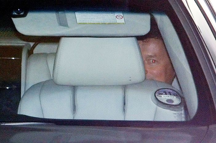 BP Chief Executive Officer Tony Hayward leaves the oil company's offices in London on Monday in the back of a car. He became the face of BP's failure to contain the Gul