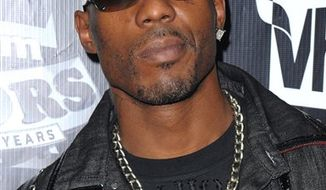 FILE - In this Sept. 23, 2009 photo, DMX arrives at the 2009 VH1 Hip Hop Honors at the Brooklyn Academy of Music in New York.  (AP Photo/Peter Kramer, file)