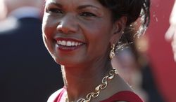 In this July 15, 2009, file photo, former Secretary of State Condoleezza Rice arrives at an awards show in Los Angeles. Miss Rice and Aretha Franklin are scheduled to perform together Tuesday, July 27, 2010, at the Mann Center for the Performing Arts in Philadelphia. (AP Photo/Matt Sayles, File)