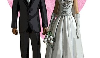 Illustration: Marriage by Greg Groesch for The Washington Times