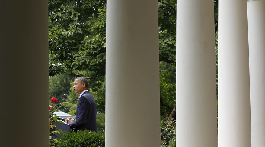President Obama delivers remarks in the Rose Garden of the White House in Washington on Tuesday, July 27, 2010. (AP Photo/Pablo Martinez Monsivais)
