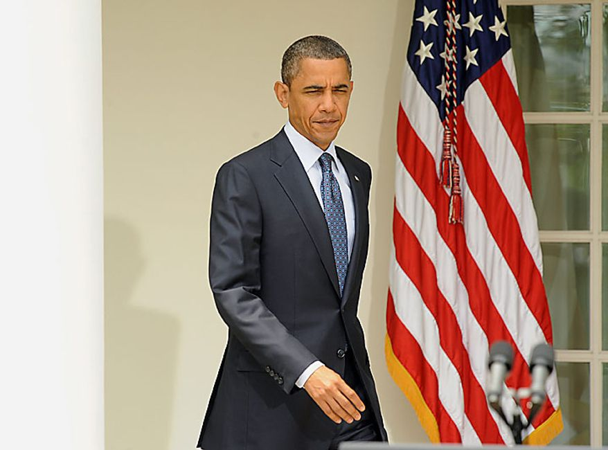 U.S. President Barack Obama arrives to discuss his legislative agenda after meeting with bi-partisan Members of Congress in the Rose Garden of the White House in Washington on July 27, 2010.  UPI/Roger L. Wollenberg