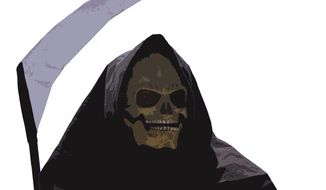 The Grim Reaper (Illustration by Greg Groesch/The Washington Times)