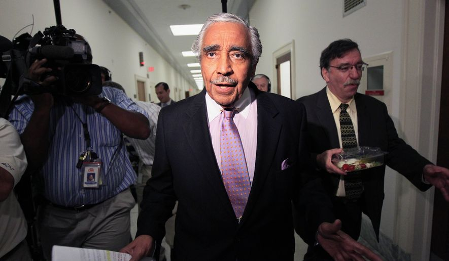 Rep. Charles B. Rangel, New York Democrat, walks to his office after going for a vote on Capitol Hill in Washington on Thursday, July 29, 2010. (AP Photo/Alex Brandon)