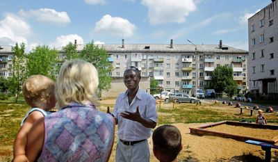 Mr. Sagbo speaks to constituents in his district. He promises to revive the impoverished, garbage-strewn town where he has lived for 21 years and raised a family. His plans include reducing rampant drug addiction, cleaning up a polluted lake and delivering heating to homes.
