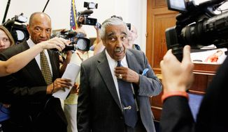 Associated Press Rep. Charles B. Rangel is facing 13 ethics charges, which could hurt other Democratic candidates because of party affiliation.