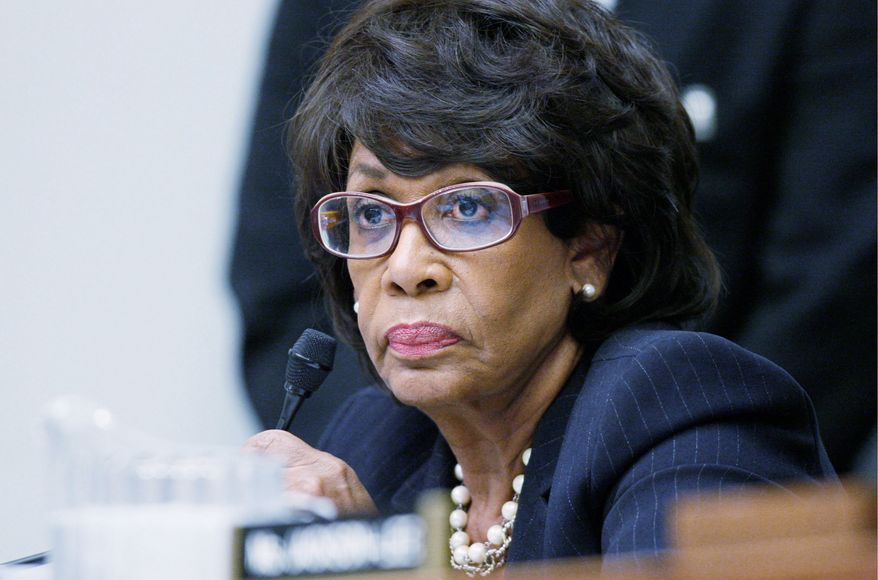 """Associated Press CHALLENGING CHARGES: Rep. Maxine Waters, California Democrat, says she """"simply will not be forced to admit to something I did not do."""""""