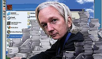Illustration: Julian Assange