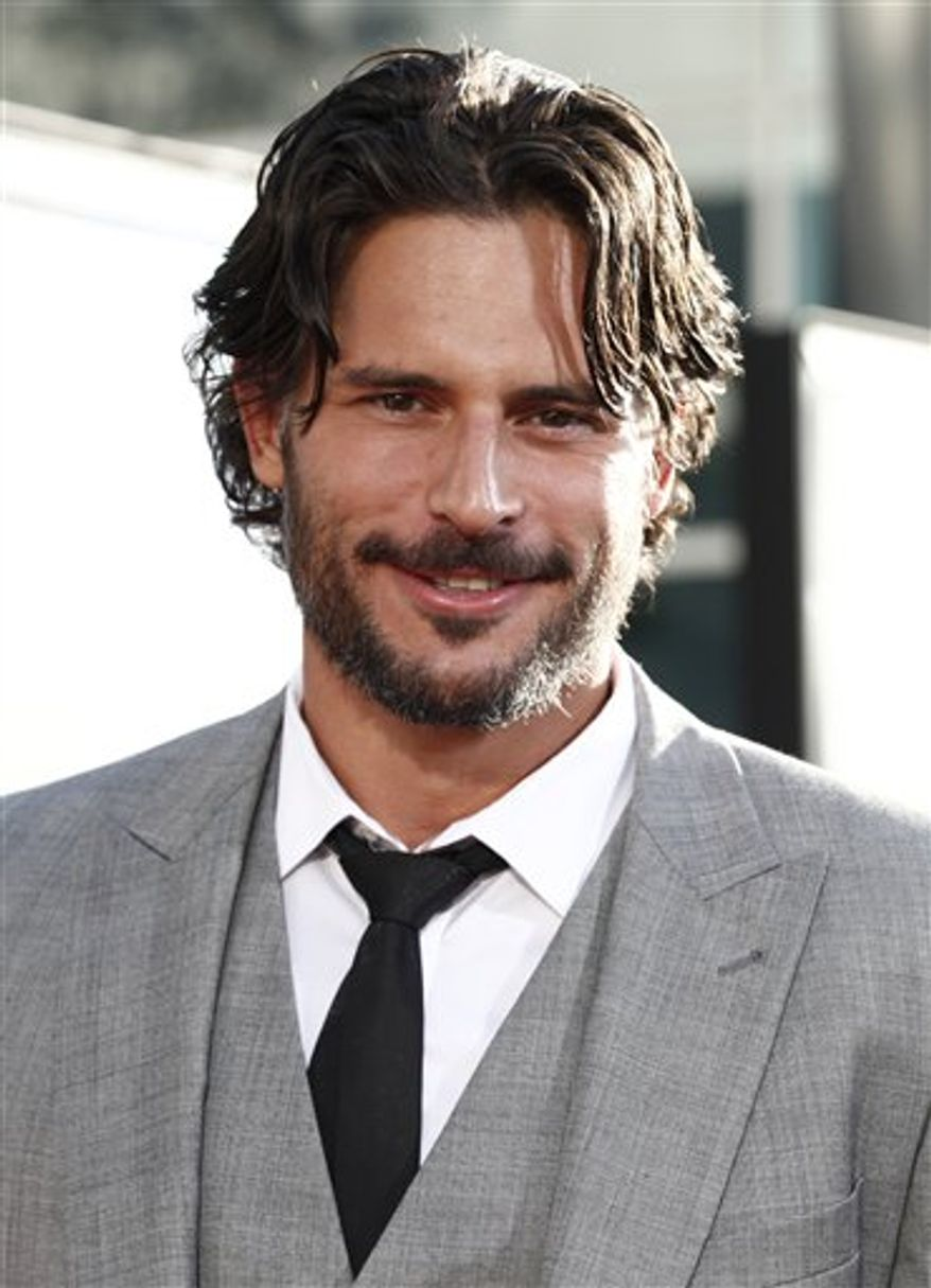 "FILE - In this June 8, 2010 file photo, actor Joe Manganiello arrives at the premiere for third season of HBO's ""True Blood"" in Los Angeles.  (AP Photo/Matt Sayles)"