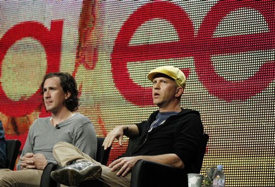 "Creator Ryan Murphy, from ""Glee"", participates in a panel discussion at the Fox Television Critics Association summer press tour in Beverly Hills, Calif., Monday, Aug. 2, 2010. (AP Photo/Matt Sayles)"