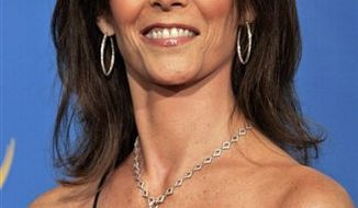 "FILE - In this Aug. 27, 2006 file photo, presenter Kate Jackson poses at the 58th Annual Primetime Emmy Awards at the Shrine Auditorium in Los Angeles. Gallery Books said Tuesday, Aug. 3, 2010, that ""Charlie's Angels"" star Kate Jackson is writing a memoir, looking back on her acting career and her personal crises and triumphs, from surviving breast cancer to adopting a boy. The book, currently untitled, is scheduled for June 2011. Gallery is an imprint of Simon & Schuster. (AP Photo/Reed Saxon, File)"