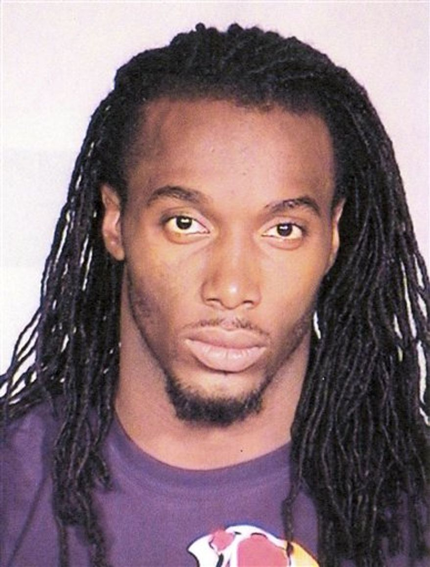 This Sunday, Aug. 8, 2010,  booking photo provided by the Cleveland Police Dept. shows Cleveland Browns defensive back Gerard Lawson. Lawson was arrested early Sunday on charges including driving under the influence after he was seen leaving the scene of an accident. (AP Photo/HO, Cleveland Police Department)