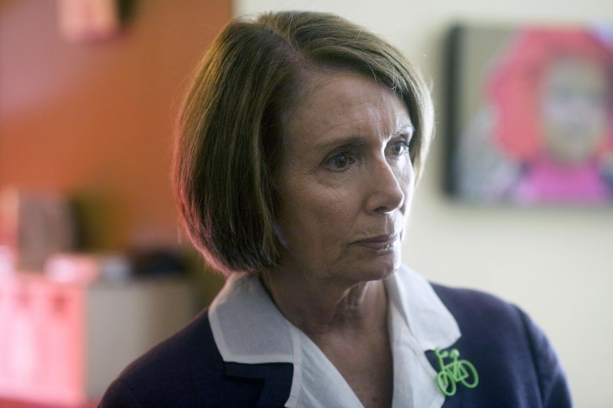 ASSOCIATED PRESS House speaker Nancy Pelosi  answers questions during her visit to Portland, Ore. Thursday, Aug. 5, 2010.. The California Democrat toured the home of Heather and Pete Ficht - one of 500 homes in a pilot program called Clean Energy Works Portland that aims to improve energy efficiency.