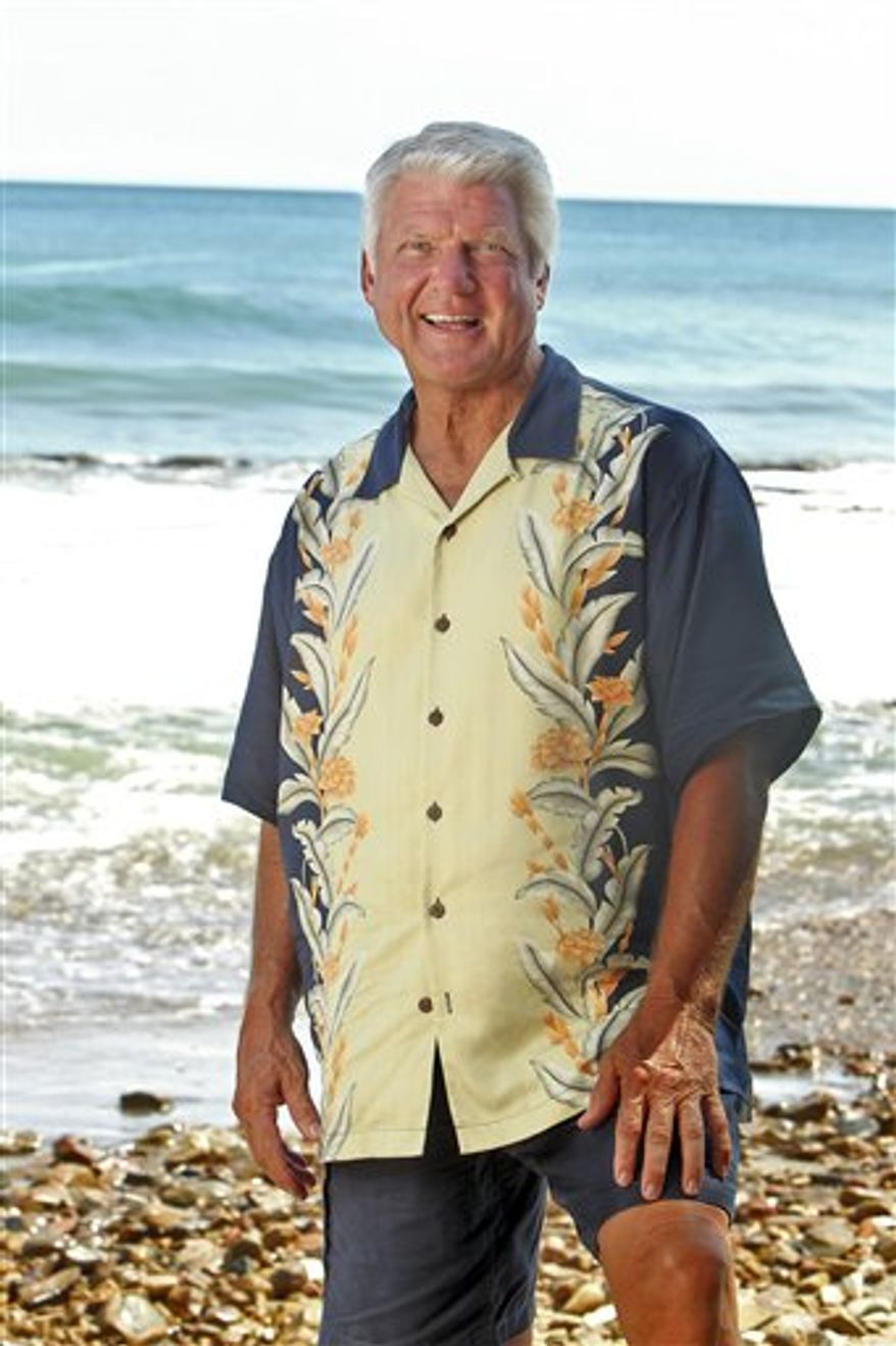 """In this publicity image released by CBS, Former NFL coach Jimmy Johnson is shown on the shores of San Juan Del Sir in Nicaragua.  Johnson is one of the 20 castaways set to compete in """"Survivor: Nicaragua"""" premiering on Sept. 15, 2010 on CBS. (AP Photo/CBS, Monty Brinton)"""