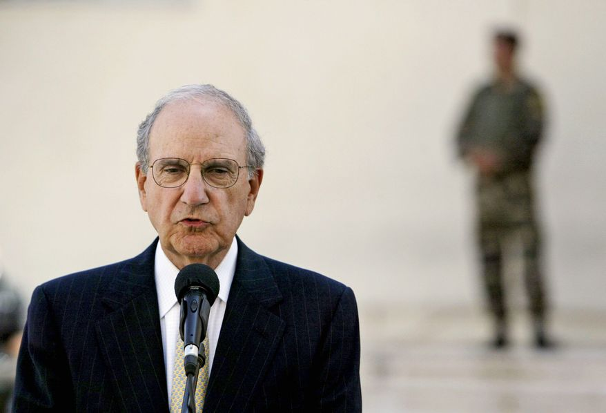 George Mitchell, U.S. Mideast special envoy, tells of meeting Tuesday with Palestinian President Mahmoud Abbas in Ramallah. He meets Wednesday with Israeli Prime Minister Benjamin Netanyahu. (Associated Press)