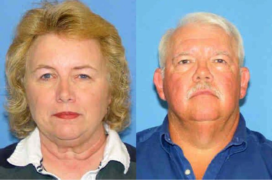 Linda and Gary Haas, both 61, were found dead in a charred camper Wednesday morning on a remote ranch in eastern New Mexico. Federal agents on Monday captured one of two escaped inmates suspected in the killing of the Haases and were searching for the other fugitive and a suspected accomplice. (AP Photo/New Mexico Department of Public Safety)