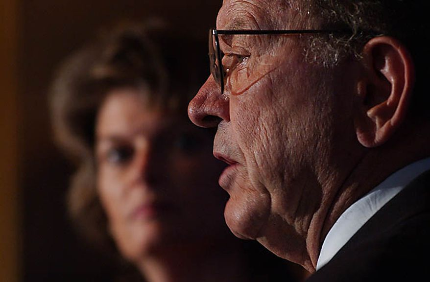 A press conference sponsored by Alaska Senators Ted Stevens and Lisa Murkowski was held in support of opening ANWR, the Alaska National Wildlife Reserve, to oil drilling, in the Senate in Congress in Washington DC, on Friday, October 28, 2005. ( Roey Yohai / The Washington Times )