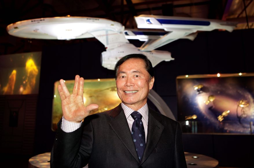 """George Takei says he has accepted his permanent tag as """"Trek's"""" Sulu. (Associated Press) ** FILE **"""