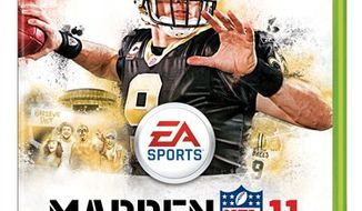 "In this publicity image released by EA Sports, the cover of the video game ""Madden NFL 11,"" is shown. (AP Photo/EA Sports)"